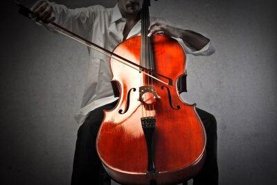 Fotomural Músico tocando un violonchelo