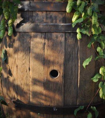 Fotomural Naturaleza muerta con un barril de cerveza