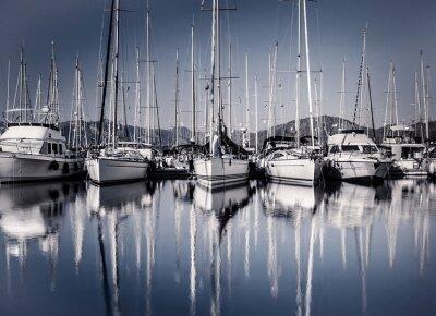 Fotomural Navega puerto del barco en la noche