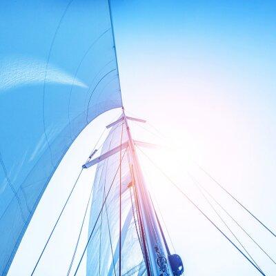 Fotomural Navegar en el cielo azul telón de fondo