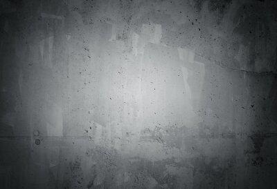 Fotomural Negro grunge degradado textura de la pared de hormigón