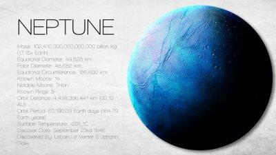 Fotomural Neptuno - Alta resolución Infografía presenta uno de los