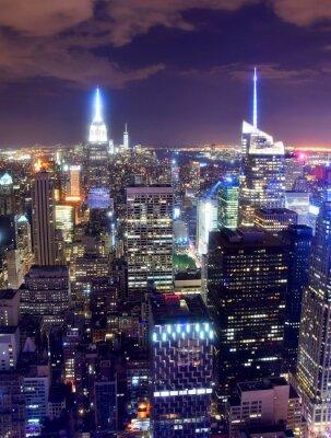 Fotomural New York City skyline at night