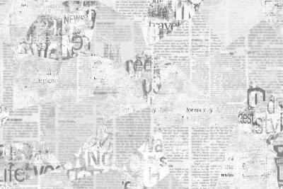 Fotomural Newspaper paper grunge vintage old aged texture background