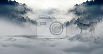 Fotomural nieve del invierno