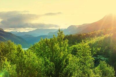 Fotomural Noruega montañas