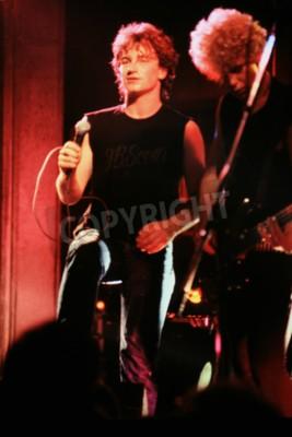 Fotomural Norwich, Inglaterra, 1 de octubre de 1981 - U2 concierto en UEA