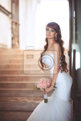 Fotomural novia en el día de la boda