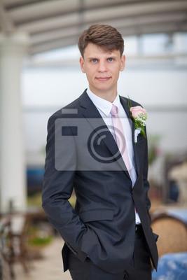 Fotomural Novio en día de la boda