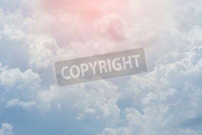 Fotomural Nubes blancas cielo cubierto, nublado cielo dramático, cielo resumen de antecedentes
