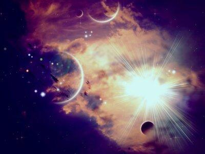 Fotomural Nubes espaciales y planetas