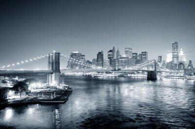 Fotomural Nueva York de Manhattan en blanco y negro