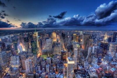 Fotomural Nueva York por la noche.