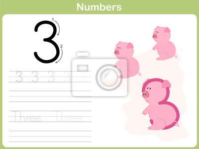 Número de rastreo hoja de trabajo: escribir 0-9 fotomural ...