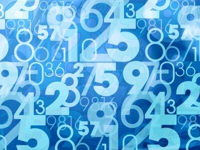 Fotomural números abstractos azules
