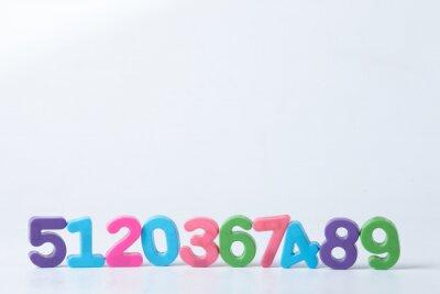 Fotomural Números surtidos de colores