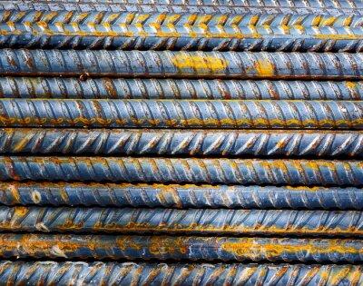 Fotomural Obra de construcción - Antecedentes barras de acero