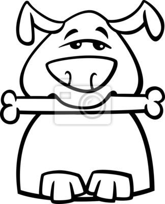 Ocupado para colorear de dibujos animados de perro fotomural ...