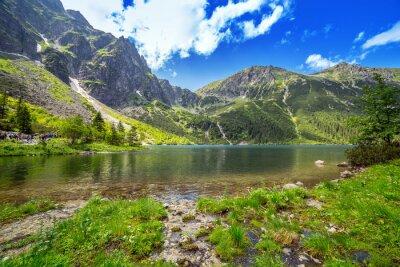 Fotomural Ojo del Mar lago en las montañas de Tatra, Polonia