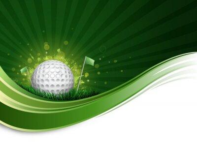 Fotomural ola pelota de golf