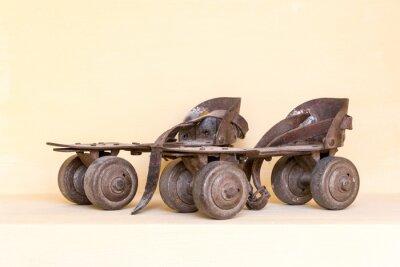 Fotomural Old pair of roller skate