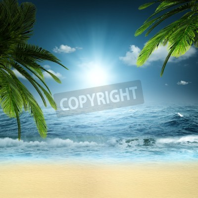 Fotomural On the ocean. Abstract natural backgrounds for your design