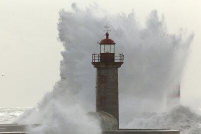 Fotomural Onda tempestuosa retroiluminada
