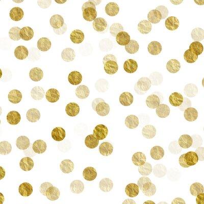 Fotomural Oro, puntos, falsa, hoja, metálico, Plano de fondo, patrón, textura