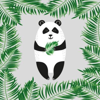 Fotomural Oso de panda lindo. Ilustración del vector.
