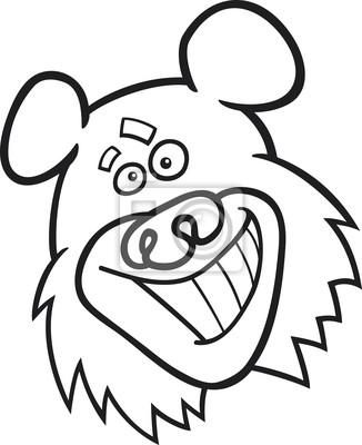Oso divertido para colorear libro fotomural • fotomurales oso pardo ...