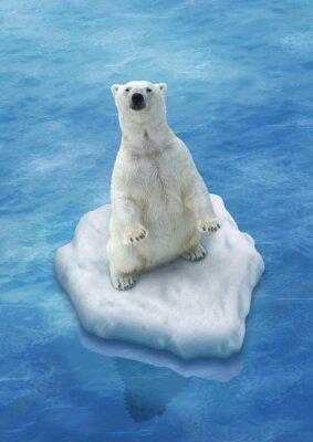 Fotomural Ours Blanc / Fonte des glaces