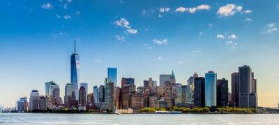 Fotomural Paesaggio di città di new york estafa grattaciel