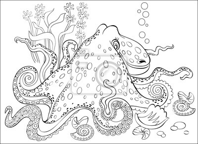 Página En Blanco Y Negro Para Colorear Dibujo De Fantasía