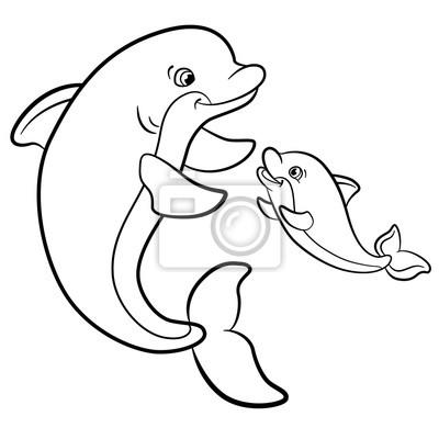 Páginas para colorear. animales salvajes marinos. fotomural ...