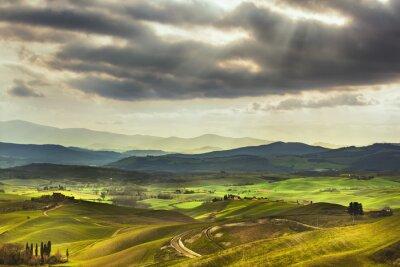 Fotomural Paisaje rural. Verde
