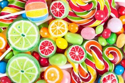 Fotomural Paletas de colores y caramelos