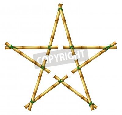 Palos De Bambu En La Forma De Una Estrella Como En Exotico Elemento - Palos-de-bambu