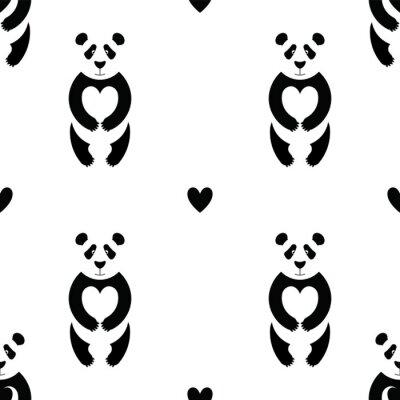 Fotomural Panda patrón 6