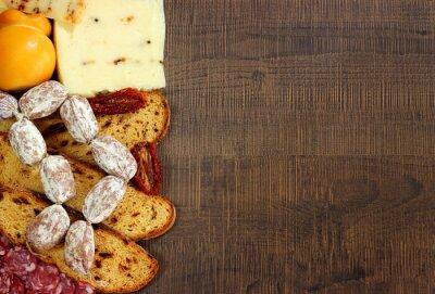 Fotomural Pane, embutidos e formaggi