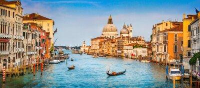 Fotomural Panorama Canal Grande al atardecer, Venecia, Italia