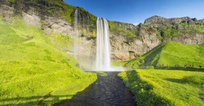 Fotomural Panorama con el río y la cascada en Islandia