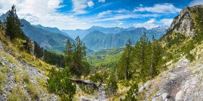 Fotomural Panorama de las montañas en el norte de Albania