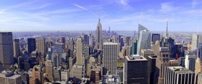 Fotomural Panorama de Manhattan skyline en Nueva York, EE.UU.