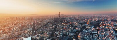 Fotomural Panorama de París al atardecer