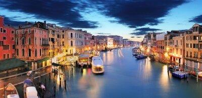 Fotomural Panorama de Venecia del puente de Rialto