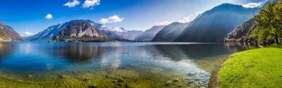 Fotomural Panorama del lago cristalino de la montaña en los Alpes