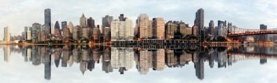 Fotomural Panorama gran angular de la ciudad de nueva york