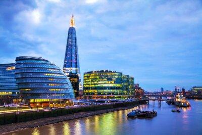 Fotomural Panorámica de Londres con el casco Londres Puente