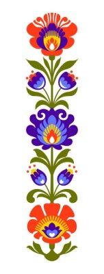 Fotomural Papercut de las flores populares polacas
