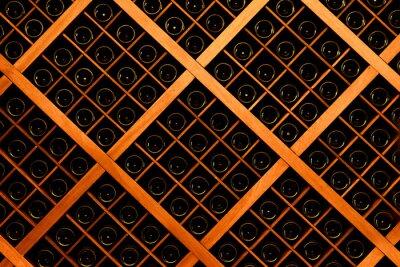 Fotomural Pared de botellas de vino